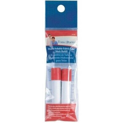 Dritz Fons And Porter Water-soluble Fabric Glue Stick Refill - Watersoluble 2pkg