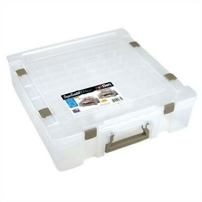 Artbin 6981ab 1 Compartment/ Divided Base Super Satchel Deluxe, Translucent -