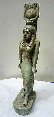 ANCIENT EGYPTIAN ANTIQUE ISIS Statue ٍStone 2686 - 2181 BC