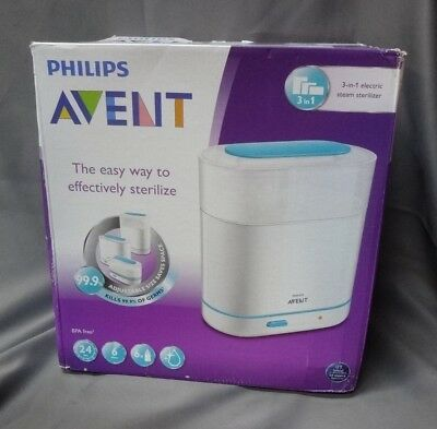 Philips Avent 3-in-1 Electric Steam Sterilizer Baby Bottle Cleaner (CL94)