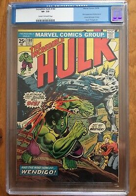 The Incredible Hulk #180 CGC 7.5 (Old CGC Lable) 1st Wolverine in Cameo