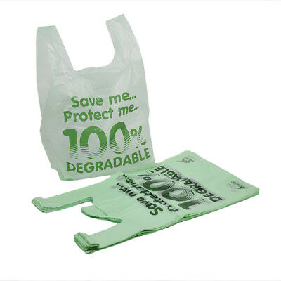 100 Large Biodegradable Carrier Bags |11 x 17 x 21'' | Eco Friendly Shopping Bag