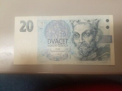 20 Koruna Czech Republic Very Nice   Shape  No Reserve!