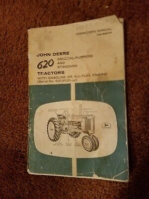 John Deere 620 Operators Manual