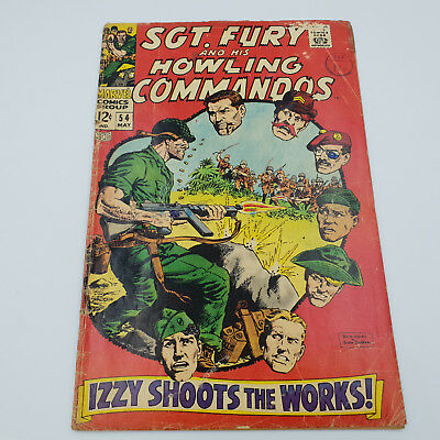 Sgt. Fury & His Howling Commandos #54 Silver Age Marvel Comics Dick Ayers G