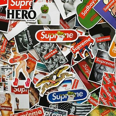 Glossy Supreme Stickers - Models & Pop Culture Skate Stickers - Bundles & Single