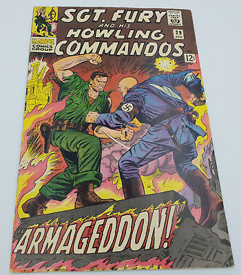 Sgt. Fury & His Howling Commandos #29 Silver Age Marvel Comics Roy Thomas F