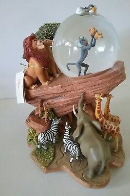 Disney LION KING The CIRCLE of LIFE   Snow Globe  PRIDE ROCK ....READ LISTING