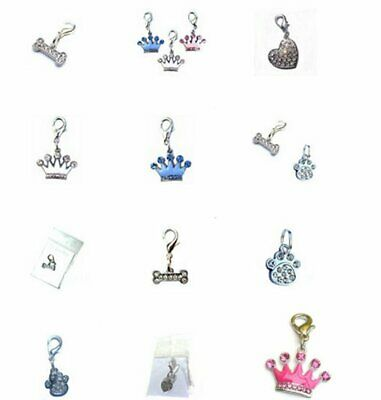 JOB LOT 28x Dog & Cat Pet Charms Hearts Diamante NEW Retail Packaging WHOLESALE