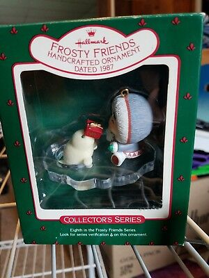 Hallmark Keepsake Frosty Friends Eskimo Seal 8th In Series 1987 Original Box