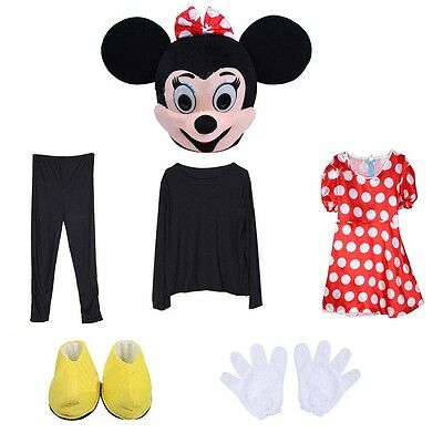 Friend Of Minnie Mouse, This Is Miss Red Mousey Mascot Costume Adult Size Gfit