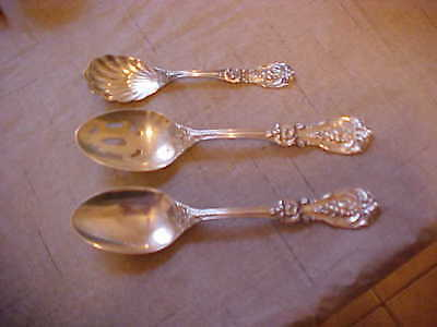 3 Reed & Barton Francis I Sterling Serving Spoons