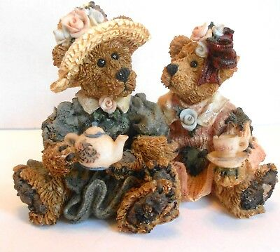 Retired Emma and Bailey Afternoon Tea Boyds Bears and Friends Figurine #2277