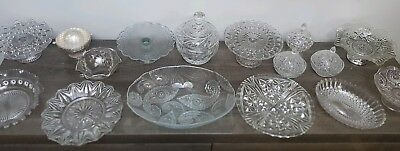Huge Collection of Vintage & New Glass  Ideal for Wedding Sweetie Table Buffet