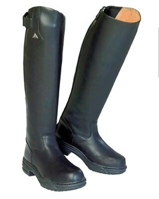 Sportive High Rider Mountain Horse Long Black Leather Riding Boots 5.5