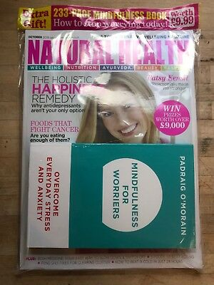 BRAND NEW Natural Health Magazine - OCT 18 + FREE MINDFULNESS FOR WORRIES BOOK