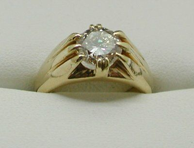 Vintage Superb Gents Heavy 18 Carat Gold And 1.75 carat Diamond Solitaire Ring