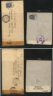 Nigeria  2  censor covers,  to   US        MS0201