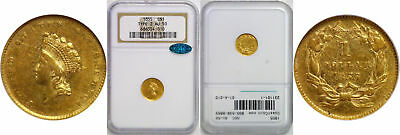 1855 $1 Gold Coin NGC AU-50 CAC Type-2