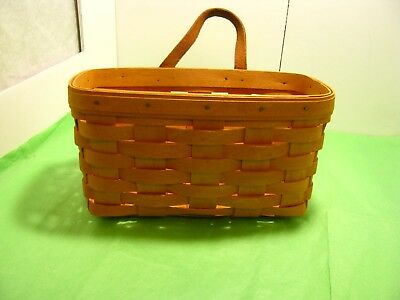 Longaberger Basket Small Mail with Leather Hanger