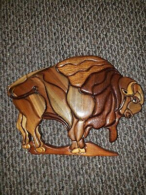Hand Made By J. P. Waszk. Buffalo Out Of Wood