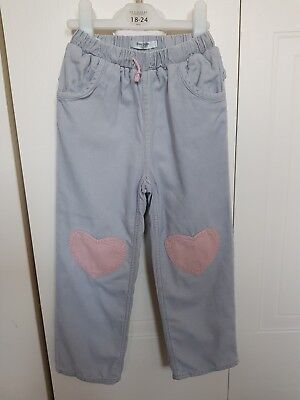Girls Age 3-4 BABY BODEN Trousers Corduroy Heart patch Knees