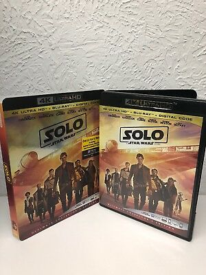 SOLO A STAR WARS STORY 4K Ultra Hd, No Blu-ray or digital HD, Ships TODAY!!