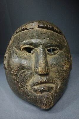 Antique Vintage Handcarved Mox Ceremonial Dance Mask from Nahuala, Guatemala