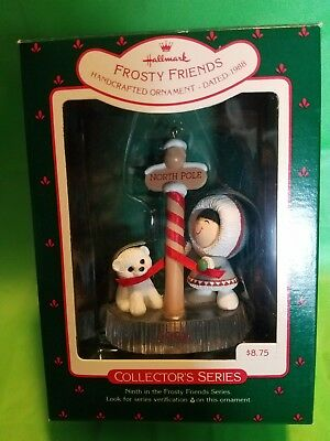 NIB 1988 FROSTY FRIENDS Hallmark Keepsake Ornament Collector's Series 9th