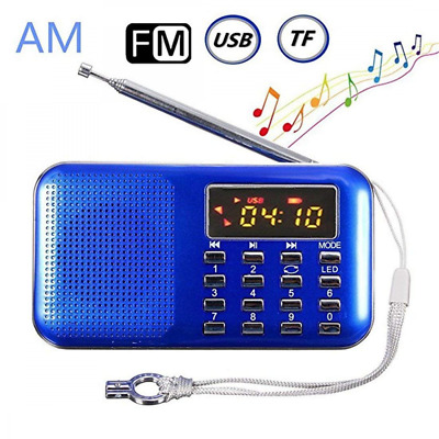 Mini Digital AM FM Pocket Radio Portable Mp3 Music Player Stereo Sound Speaker