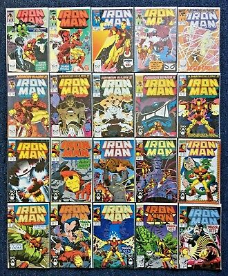 Lot of 20 Invincible Iron Man (1968 1st Series)  Marvel Comic 1989 VF+