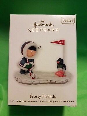 "HALLMARK KEEPSAKE ~ NIB ""Frosty Friends"" Ornament dated 2012, 33RD in the series"