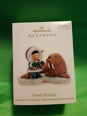 Hallmark Ornament Frosty Friends Series 32 Eskimo & Walrus 2011 MIB