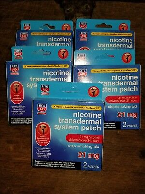 5 BOX LOT Nicotine Transcendental System Patch 21 mg Step 1 Rite Aid exp1/19
