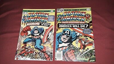 Captain America #193 Jack Kirby returns & #200 (Jan 1976, Marvel)