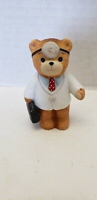Enesco Lucy & Me Doctor Dr. Physician MD Medical Bag Bear Figurine