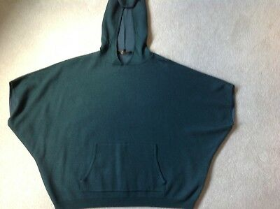 Ladies Forest Green Jaeger Jumper/Poncho with Hood Size S