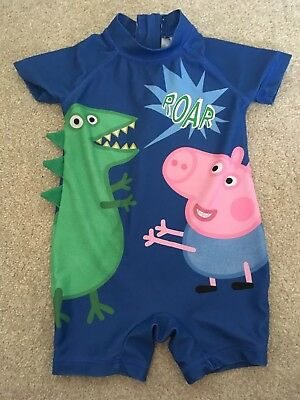 Next Baby Boys Peppa Pig All In One Swimsuit Age 9-12 Mths