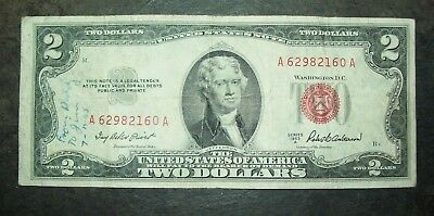 1953-A U.S. $2 Red Seal, United States Note, Banknote