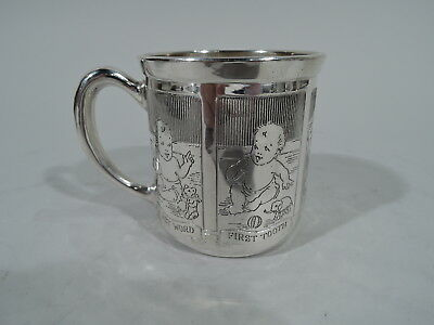 Blackinton Mug - 5644 - Antique Christening Baby Cup - American Sterling Silver
