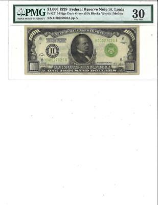 $1000 1928 Federal Reserve Note St. Louis