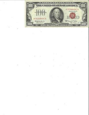 1966 US Red Seal $100 Small Bill