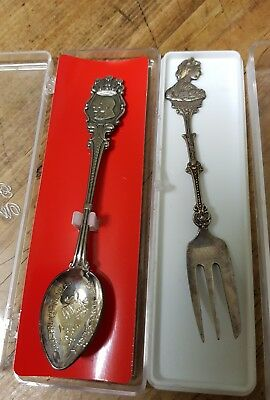 PRINCESS ELIZABETH 1950's spoon, Charles & Dianna 1981 spoon