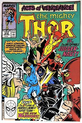 S338. THE MIGHTY THOR #412 Marvel 7.5 VF- (1989) 1st Full App. of NEW WARRIORS