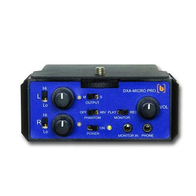 Beachtek DXA-MICRO PRO Active 2-Channel 48 Volt Phantom Power Audio Adapter
