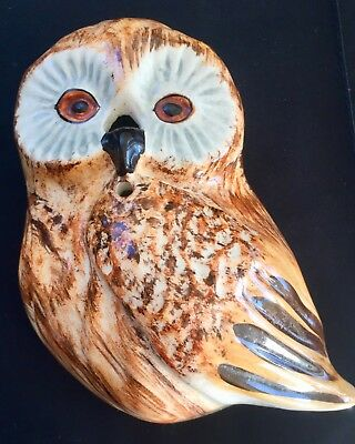 Vintage China Owl Wall String Dispenser Toni Raymond Pottery Babbacombe