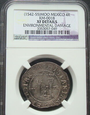 19542-55 Mexico 4 Reales Silver EF details NGC