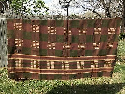 Victorian Carriage Horse Blanket Wool Nice Textile Design Leather Buckle