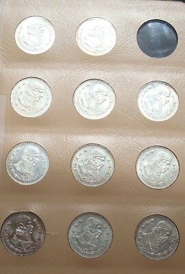 Mexico Lot 11Coins Uncirculatd 1957-1967