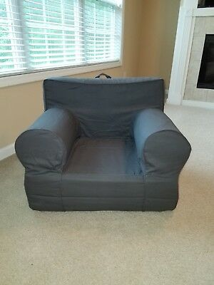 Fine Pottery Barn Kids Charcoal Gray Oversized Anywhere Chairs Beatyapartments Chair Design Images Beatyapartmentscom